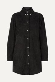 Senna suede shirt dress