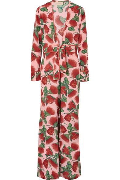 af25048fe6a Fiore floral-print silk crepe de chine jumpsuit