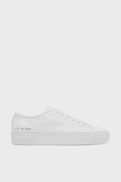 Common Projects White Original Achilles Low Premium Sneakers