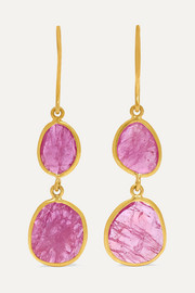 18-karat gold ruby earrings