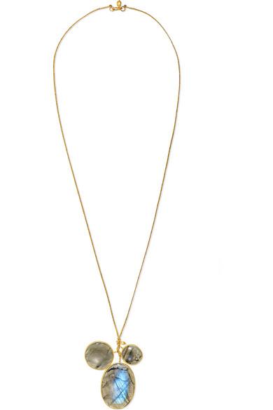 PIPPA SMALL | Pippa Small - 18-karat Gold Labradorite Necklace - one size | Goxip