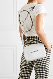 Balenciaga Everyday S AJ printed textured-leather camera bag