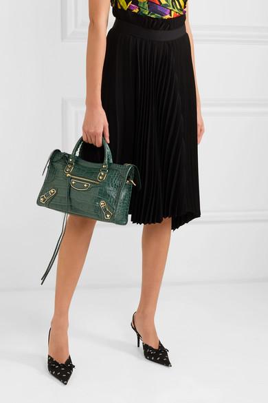 6a9a9b5602663 Balenciaga | Classic City small croc-effect leather tote | NET-A ...