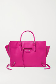 Balenciaga Papier A6 small textured-leather tote