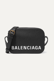 Balenciaga Ville printed textured-leather shoulder bag