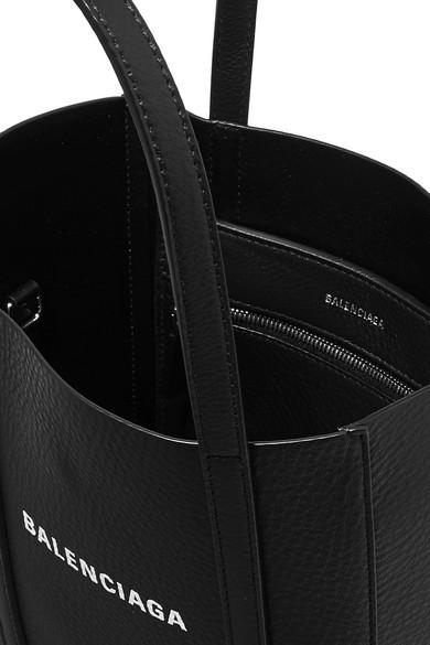 Balenciaga Totes Everyday mini printed textured-leather tote