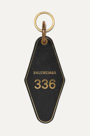 Balenciaga Hotel printed leather keychain