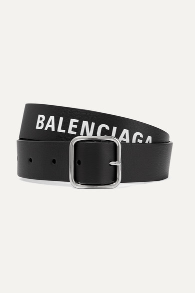 Balenciaga Belts Everyday printed textured-leather belt