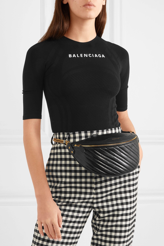 Balenciaga Souvenir XS AJ textured-leather belt bag