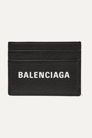 Balenciaga Everyday printed textured-leather cardholder