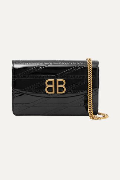 330fc0cc23d65 Balenciaga   BB patent-leather shoulder bag   NET-A-PORTER.COM