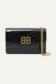 Balenciaga BB patent-leather shoulder bag