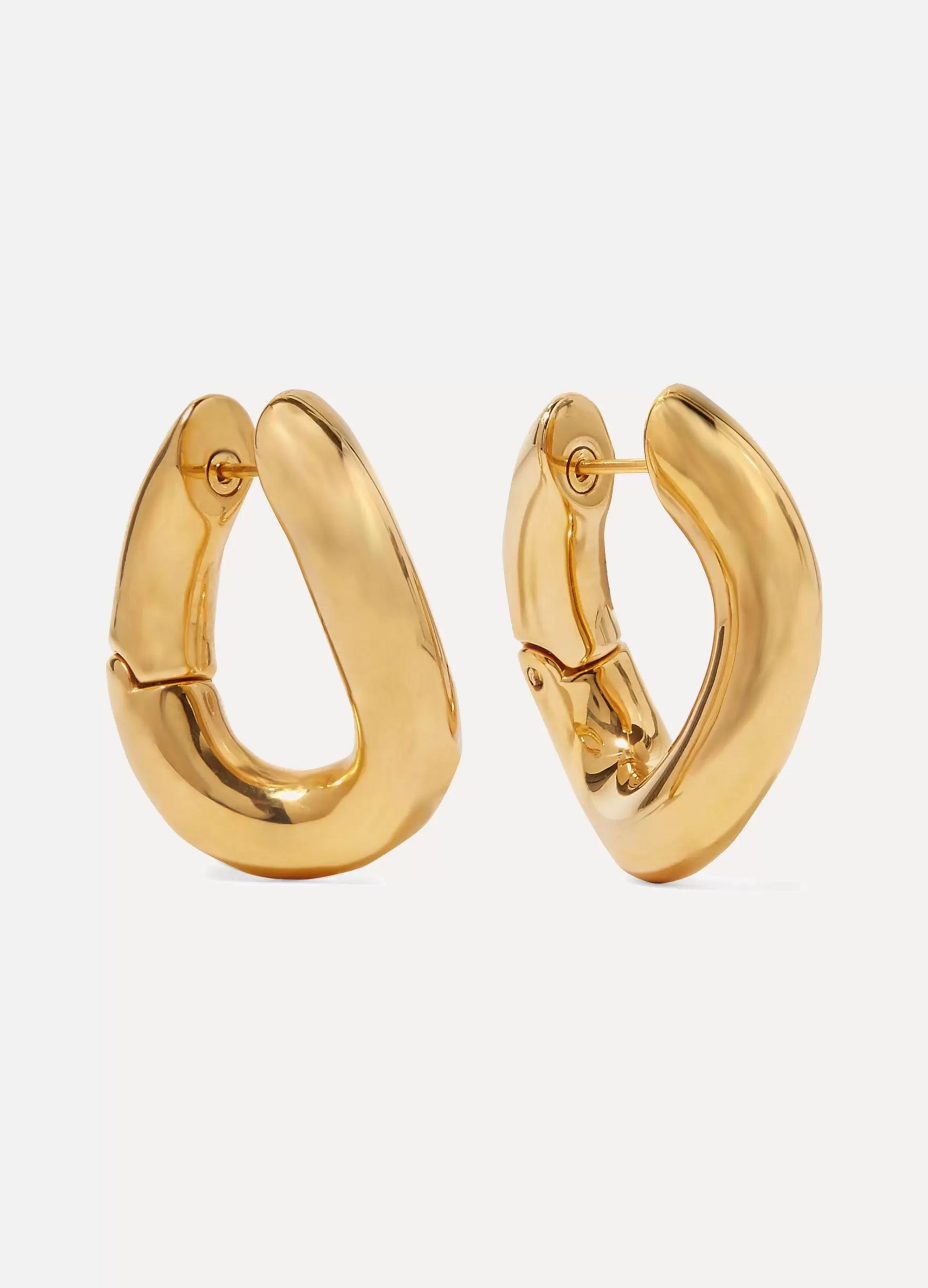 Balenciaga Gold-tone hoop earrings