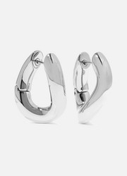 Balenciaga Palladium-tone hoop earrings