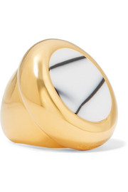 Balenciaga Gold-tone and resin ring