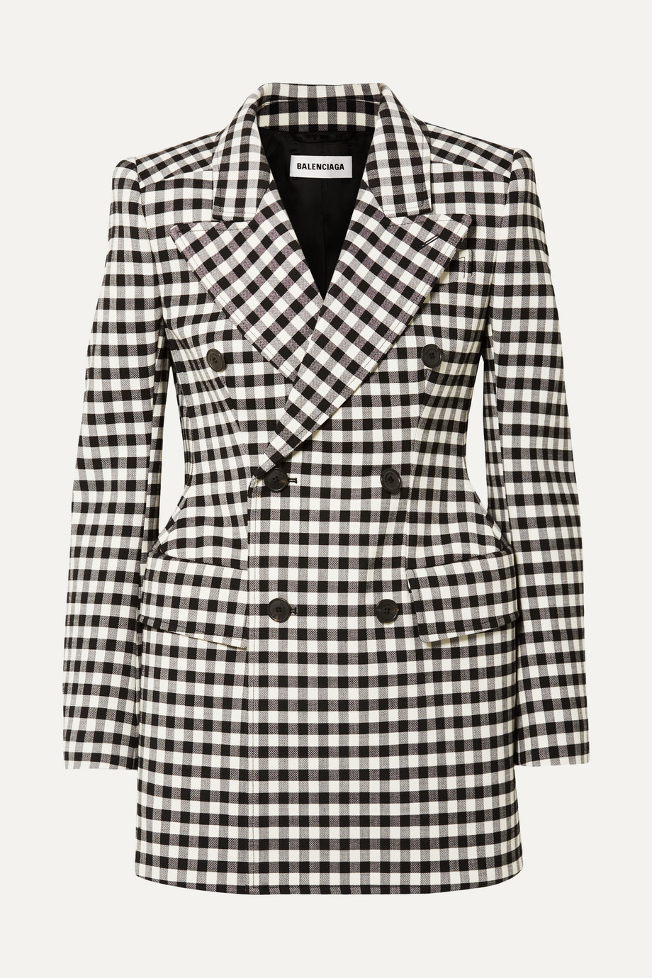 Exact Product: Kylie Jenner White And Black Blazer Photoshoot 2019, Brand: Balenciaga, Available on: net-a-porter.com, Price: $2990
