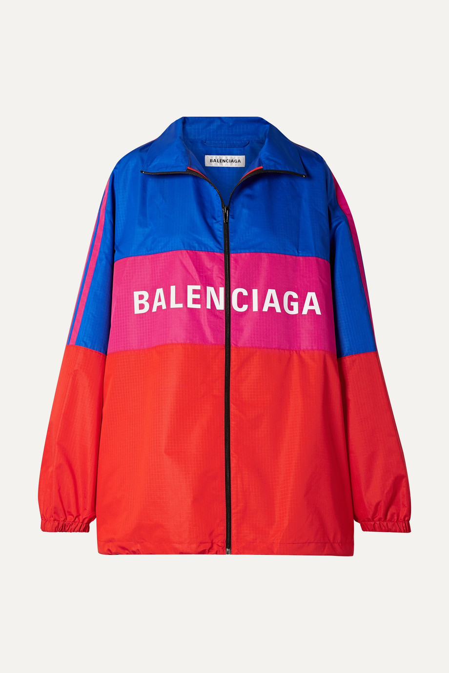 Balenciaga Oversized printed color-block ripstop jacket