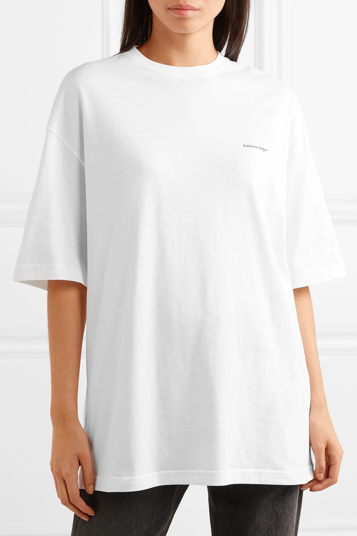 Balenciaga Oversized-T-Shirt aus Baumwoll-Jersey mit Print