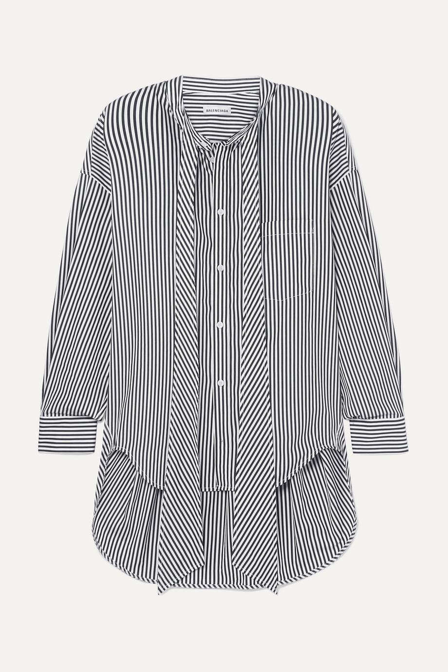 Balenciaga New Swing striped cotton-poplin shirt