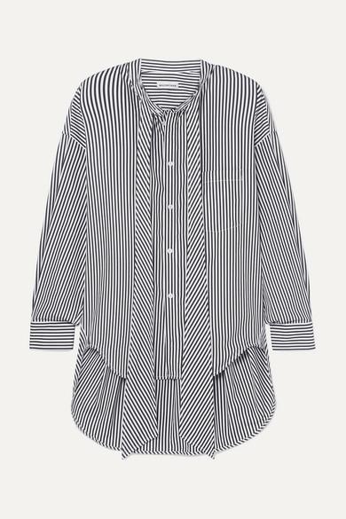 Balenciaga Shirts New Swing striped cotton-poplin shirt