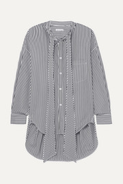 Balenciaga New Swing striped cotton-poplin shirt