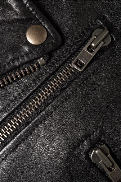 Balenciaga Jackets Printed textured-leather biker jacket