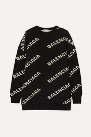 Balenciaga Intarsia knitted sweater