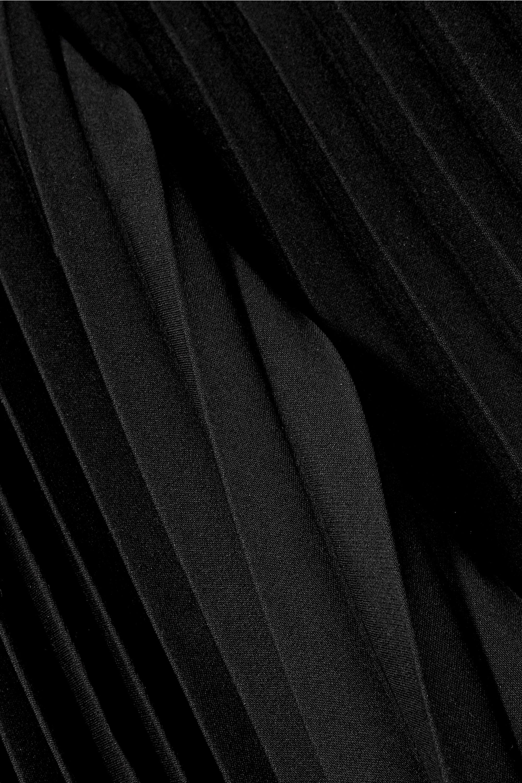 Balenciaga Asymmetrischer Midirock aus Crêpe mit Falten