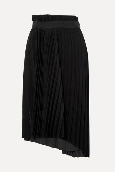 Balenciaga pleated crêpe top black