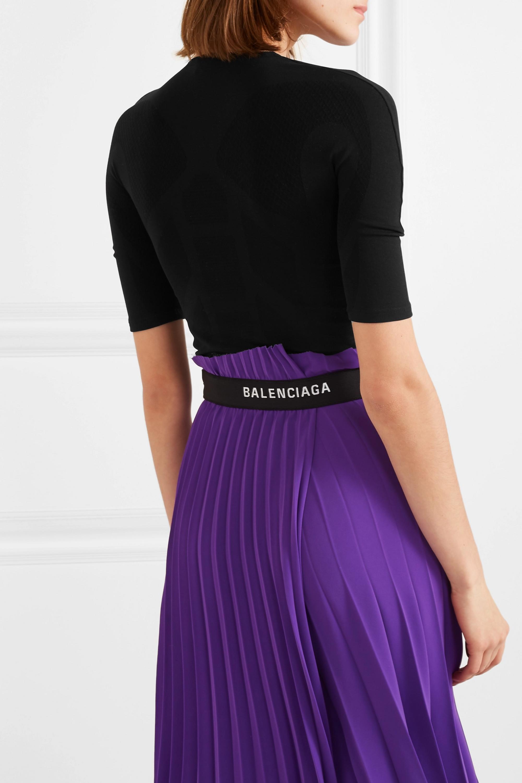 Balenciaga Haut en jersey stretch texturé imprimé