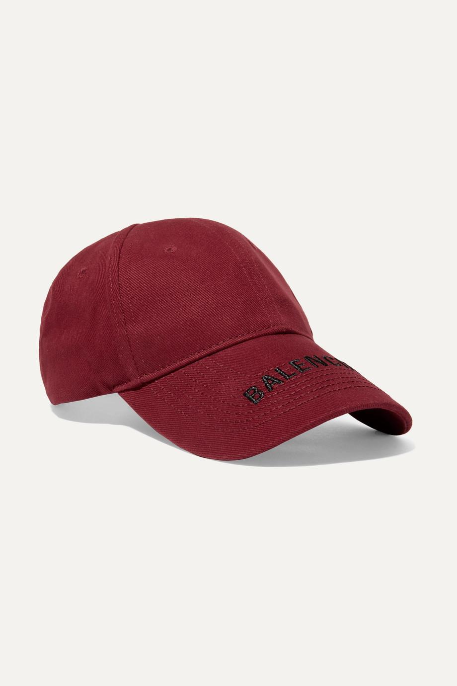 1de969f7 Balenciaga Embroidered cotton-twill baseball cap