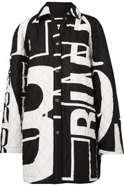 Balenciaga Printed quilted cotton-poplin jacket