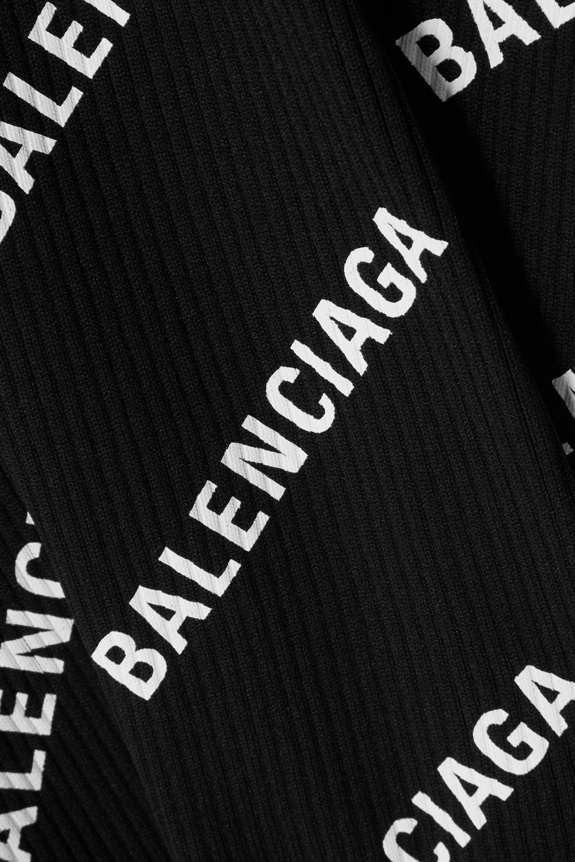 Balenciaga Bedrucktes Oberteil aus Rippstrick