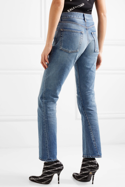 Balenciaga Twisted high-rise straight-leg jeans