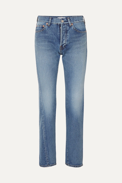 BALENCIAGA | Balenciaga - Twisted High-rise Straight-leg Jeans - Mid denim | Goxip