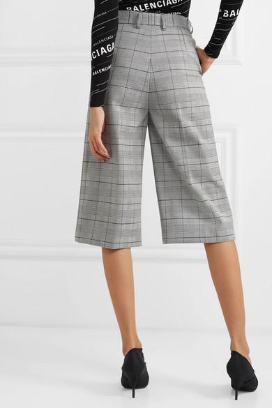 Balenciaga Pants Prince of Wales checked woven culottes