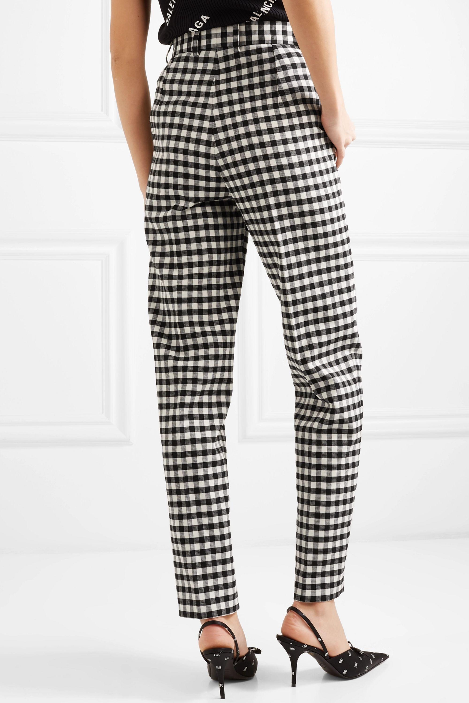 Balenciaga Hose mit geradem Bein aus kariertem Webstoff