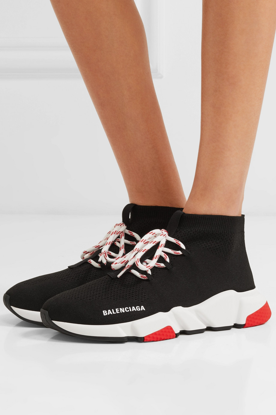 Balenciaga Speed 弹力针织高帮运动鞋