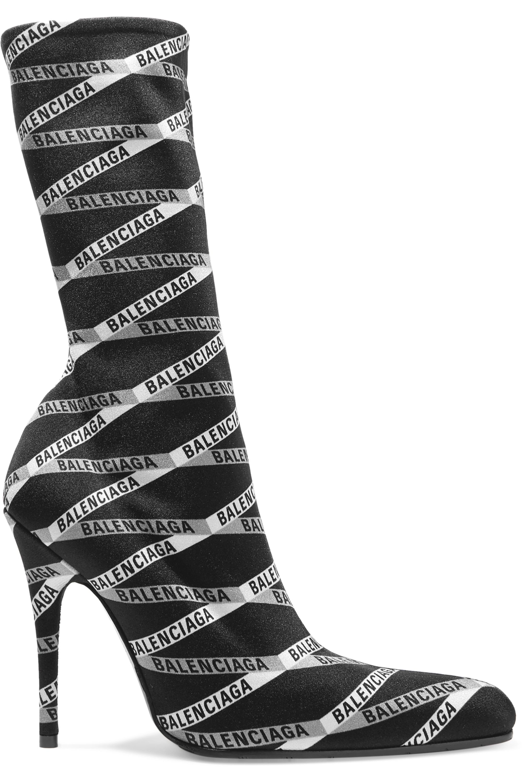 Balenciaga Sock Boots aus Spandex mit Logoprint