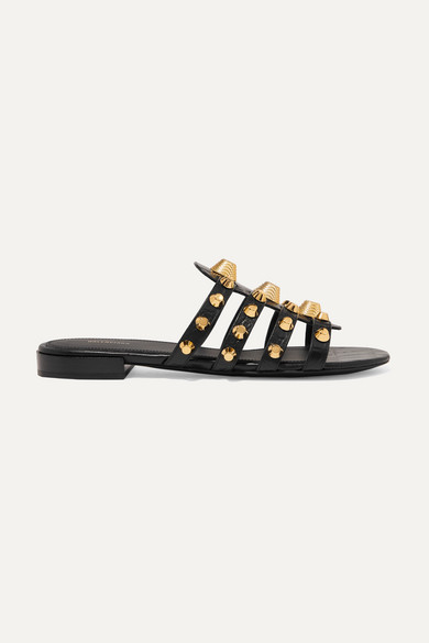 Balenciaga Slippers Giant studded croc-effect leather slides