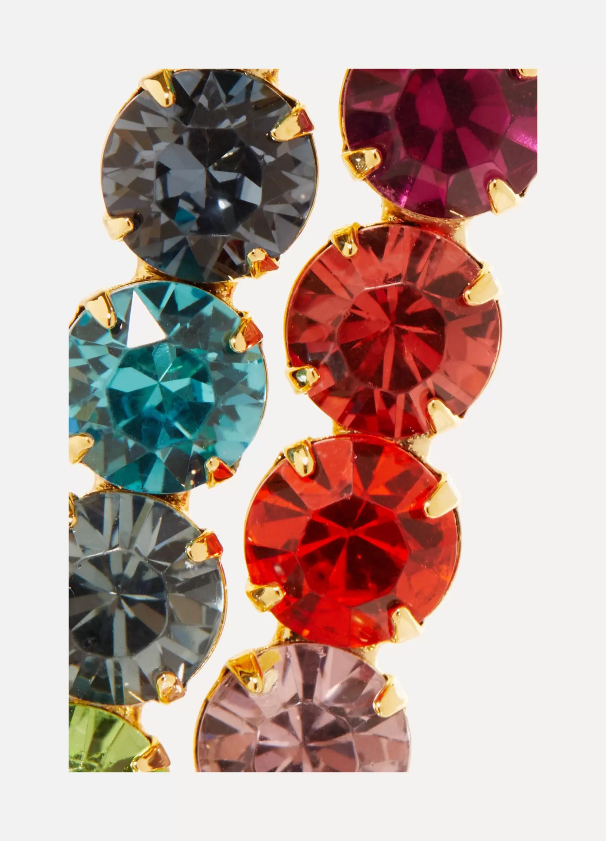 LELET NY Set of two gold-plated Swarovski crystal hair slides