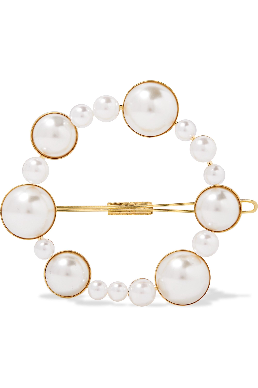 LELET NY Gold-tone faux pearl hairclip
