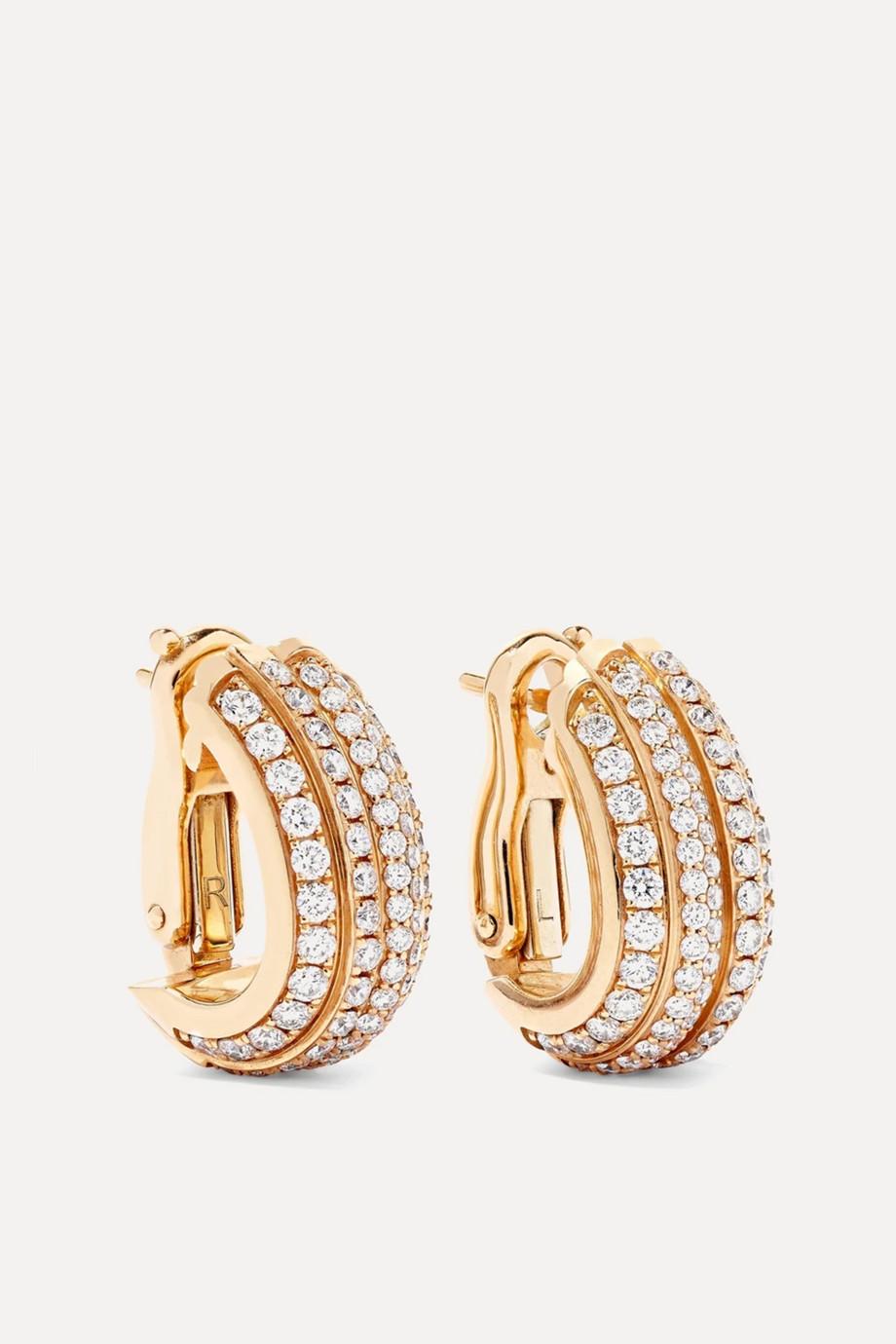Piaget Possession 18-karat rose gold diamond hoop earrings