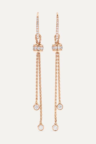 Boucles D'oreilles Possession Or Rose Carats Diamants En 18 Et DH9WYeE2I