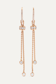 Possession 18-karat rose gold diamond earrings