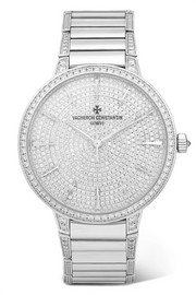 Patrimony 36.5mm small 18-karat white gold diamond watch