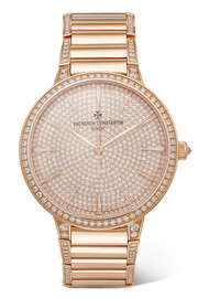 Patrimony 36.5mm small 18-karat rose gold diamond watch