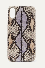 Snake-effect leather iPhone XR case