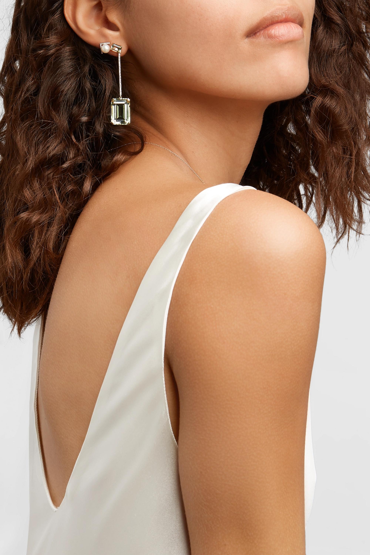 Mateo 14-karat gold, amethyst and diamond earrings