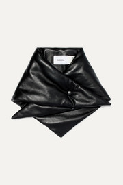 Vegan leather scarf